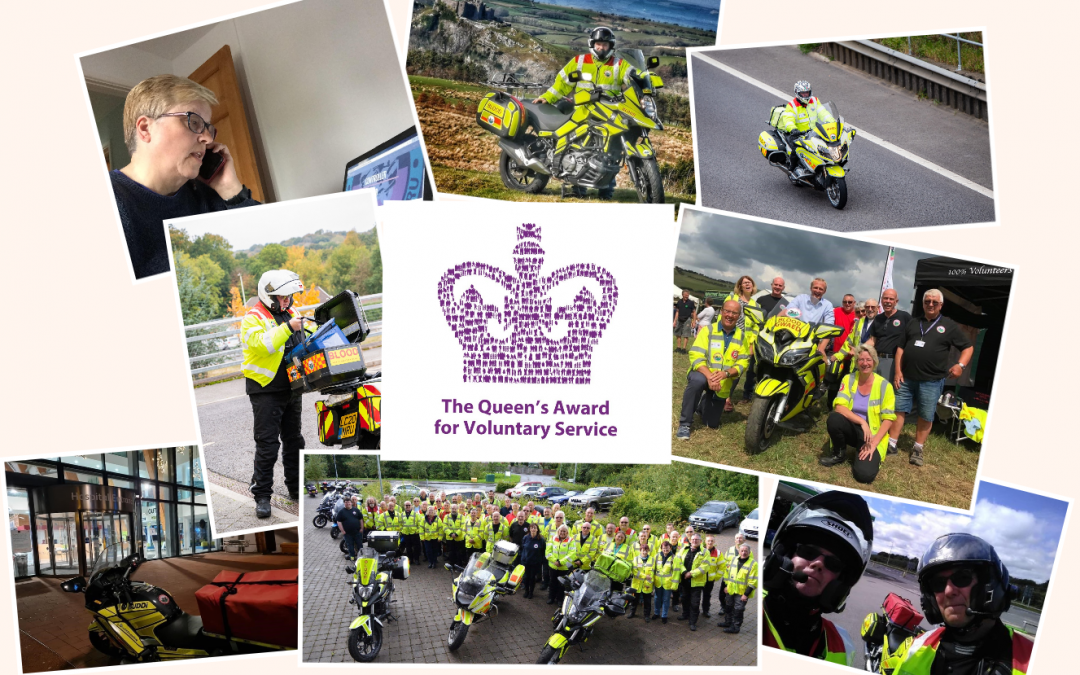 Blood Bikes Wales receives The Queen's Award for Voluntary Service